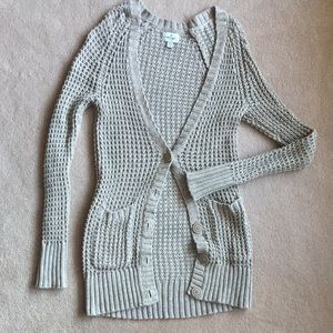 AE knit long cardigan | XS sweater jacket